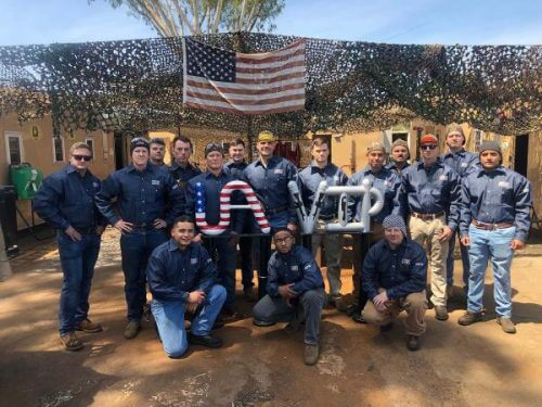 Graduation Honors Transitioning Military in UA VIP Camp Pendleton Welding Class